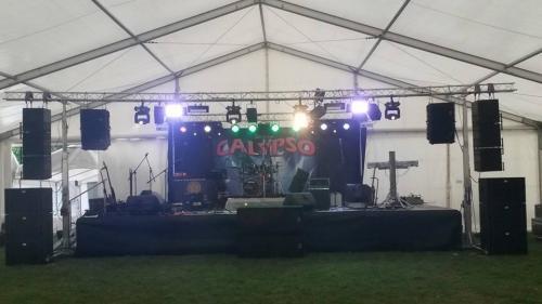 Naše ozvočenje na 15.letnici Skupine Calypso